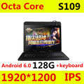 S109 4 Г LTE Android 6.0 10.1 дюймов tablet pc окта основные 4 ГБ RAM 128 ГБ ROM + Клавиатура IPS Таблетки смартфонов компьютер MT8752