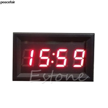 peacefair LED Display Digital Clock 12V 24V Dashboard Car Motorcycle Accessory 1PC