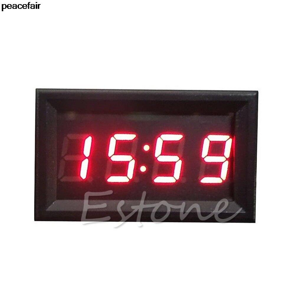 peacefair LED Display Digital Clock 12V/24V Dashboard Car Motorcycle Accessory 1PC