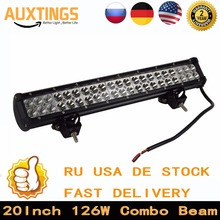 "DE STOCK! FREE Tax 12v led work light bar 20""inch 126W Combo beam Offroad led light Bar Crees led driving lamp for car tractor"