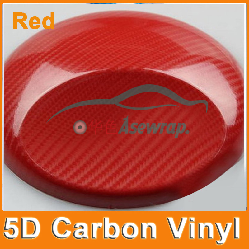 10/20/30/40/50 / 60x152CM Super lesklý vinyl 5D z uhlíkových vláken se vzduchovými bublinkami 5D nálepka do autíčka pro balení do auta zdarma