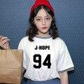 KPOP BTS Bangtan Мальчики Летнее пальто Корейской версии мужчины женщины черный Белый Хлопок Письма Печатаются резьба С Короткими рукавами футболка