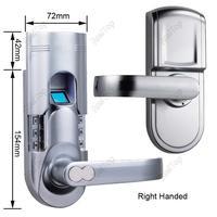 Правша Дактилоскопические системы доступа Биометрические пароль пальцев замок с одной защелки