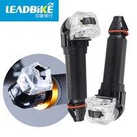 LEADBIKE Bicycle Handlebar Led Lights Bike Handlebar End Plug LED Light Grips Safe Flashlight Cycling Waterproof