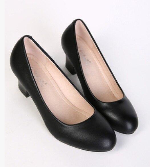 Shoes 7cm Thick Heel Pumps Low Heel