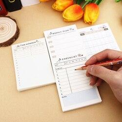 Bonito kawaii portátil bolso caderno semanal livro mensal diário agenda para crianças diário material escolar caderno planejador de trabalho