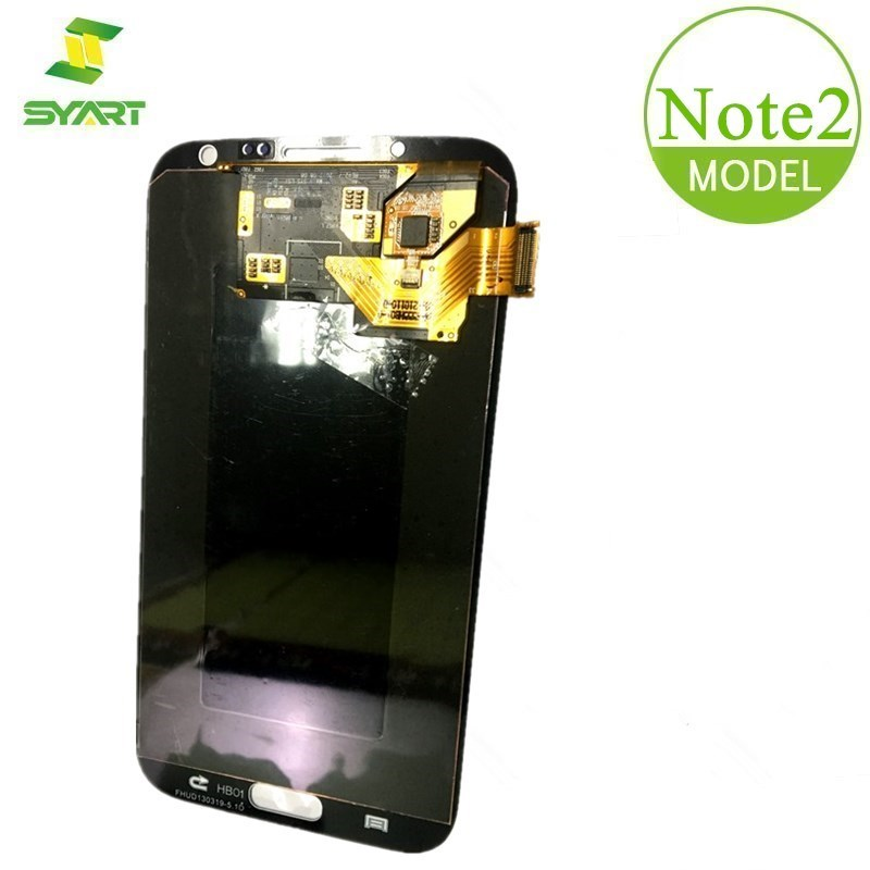 For Samsung Galaxy Note 2 LCD Super AMOLED LCDs Display Touch Screen Digitizer Assembly + Tools For Note2 N7100 N7105 LCD Screen image