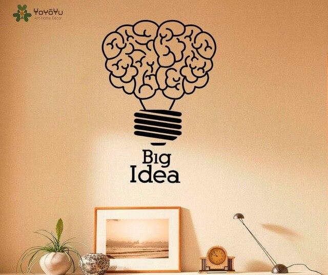 YOYOYU Wall Decal Lightbulb Pattern Quotes Big Idea Wall Stickers ...