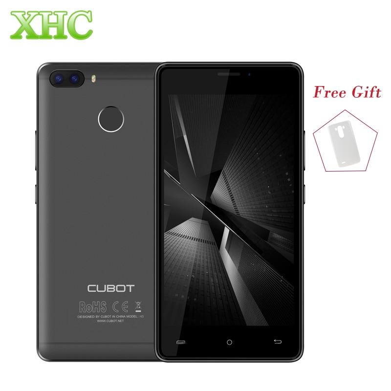 "Cubot H3 ОЗУ 3 ГБ ROM 32 ГБ мобильных телефонов двойной задней камерами отпечатков пальцев ID 5.0 ""Android 7.0 MTK6737 quad Core Dual sim мобильных телефонов"