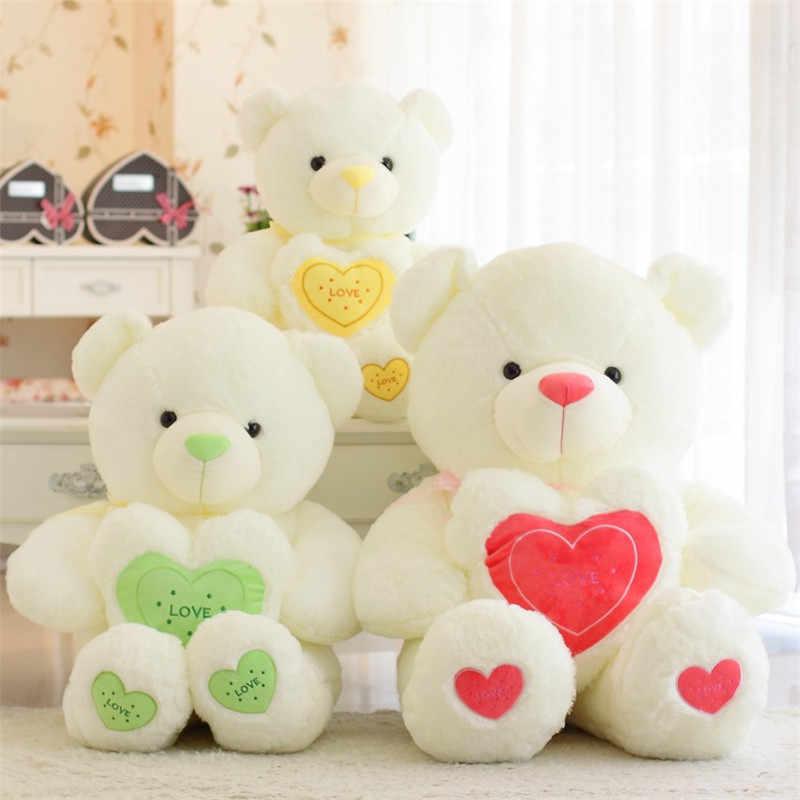 60 centímetros Brinquedos De Pelúcia Super Fofo Urso Coração PP Cotton Stuffed Boneca Crianças Dormir Apaziguar Brinquedo Presentes de Natal Aniversário