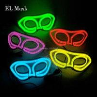 Оптовая продажа 10 шт. кружева белый Queen led маска светящиеся EL маска партии женские подарок dc 3v Для Свадебные украшения