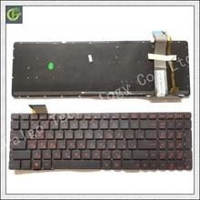 لوحة المفاتيح الروسية ل ASUS GL552 GL552J GL552JX GL552V GL552VL GL552VW N751 N751J N751JK N751JX G551VW RU أسود مع الخلفية