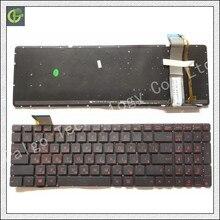 Teclado ruso para la ASUS GL552 GL552J GL552JX GL552V GL552VL GL552VW N751 N751J N751JK N751JX G551VW Negro RU con retroiluminación