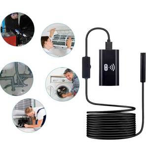 Image 2 - 8mm Lens HD720P Wifi Endoscope Camera with 1m Soft&Hard Wire Waterproof  Borescope inspection Camera for Android IOS iPhone