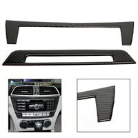 Areyourshop Carbon Fiber Interior Console Panel Cover Trim For Benz C Class W204 11 13 Center Console CD Panel Cover Car Parts