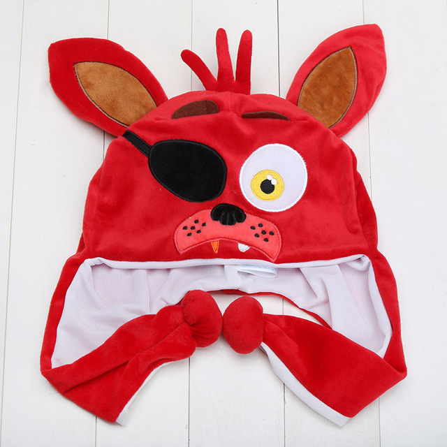 FNAF Five Nights At Freddy's 5 Nightmare Mangle Freddy Fazbear Foxy Bonnie Chica Kids Cartoon Hat Warm Winter Cap Plush Toy