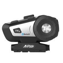 AiRide G1 Casco Del Motociclo di Bluetooth Headset Moto Cuffia Senza Fili Comando Vocale Bluetooth 4.1 FM Radio