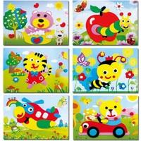 20 עיצובים/הרבה קריקטורה בעלי החיים 3d חידת מדבקת קצף אווה סדרת E למידה מוקדמת צעצועי חינוך לילדים|early learning educational toys|foam sticker puzzlestickers puzzle -