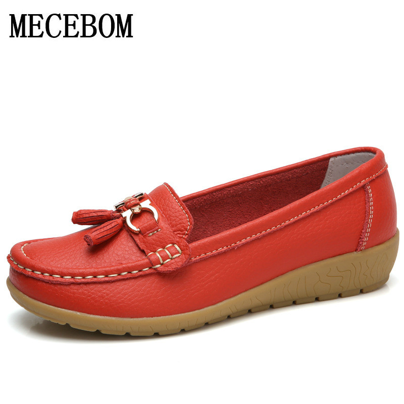 2018 Shoes Woman Leather Women Shoes Flats Colors footwear Loafers Slip On Women's Flat Shoes Moccasins Plus Size 5272W siketu sweet bowknot flat shoes soft bottom casual shallow mouth purple pink suede flats slip on loafers for women size 35 40
