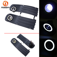 Car Styling Accessories 1 Pair Auto Fog Light Foglamp White Angel Eyes Halo Ring Bulbs For
