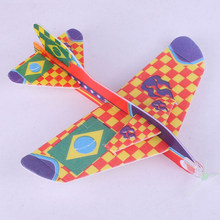 ZTOYL 18.5*19cm Stretch Flying Glider Planes Aeroplane Childrens Kids Toys Game Cheap Gift DIY Assembly Model Educational Toys(China)