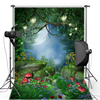 Forest Mushroom Moon For Children Wedding Vinyl Or Oxford Photography Background Photography Studio Backdrop Photo Props