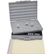AideTek 2 unités de SMD Résistance Condensateur De Stockage Boîte Organisateur 0603 0402 BOX-ALL-144