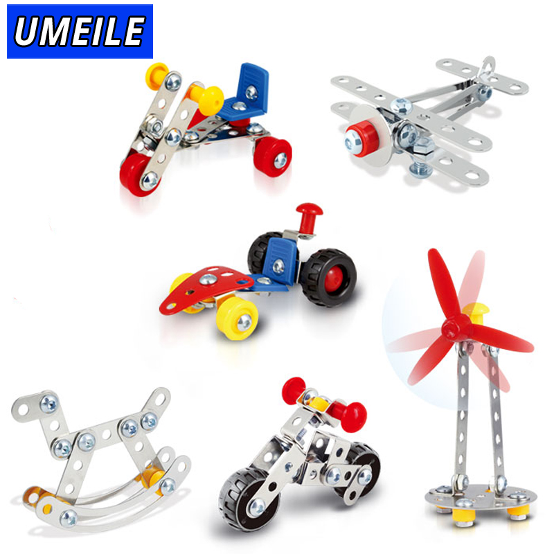 UMEILE Brand 6 Style Magical Model Building Kit Science Toys Nut Screw 3D Metal Puzzle ...