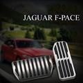 2pcs no drilling gas brake foot pedals set for Jaguar F-Pace F Pace 2016 2017