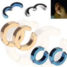 Ear Clip Titanium Steel Earrings Studs U Shaped for Man Woman KQS