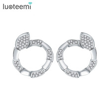 LUOTEEMI New Fashion Korea Hot Selling Elegant Personalized Fashion Lucky Snake Earring Brinco For Women Jewelry