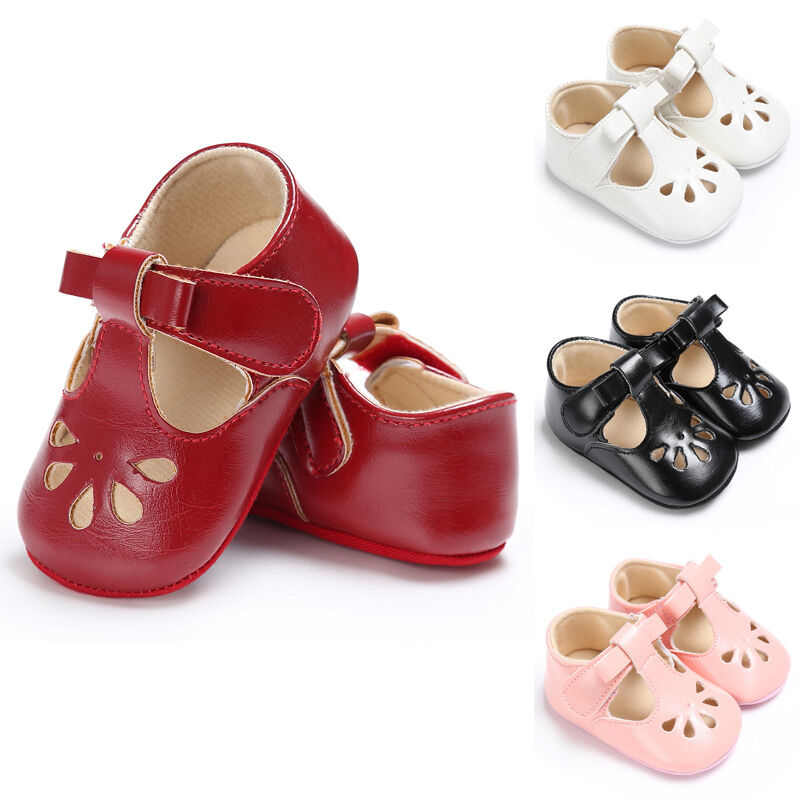 2019 New Baby First Walkers Toddler Infant Soft Soled Pre-walker Leather Princess Baby Non-slip Shoes