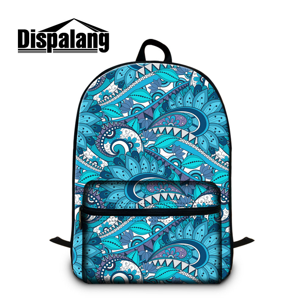80ae43d3c6d Dispalang Geometric 3D printing backpack school bag Skull Floral Back Pack  Flower Mochilas for Teen Girls Traveling Laptop Bag