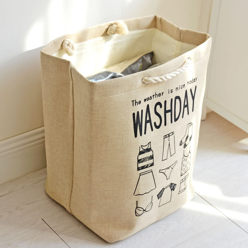 new Thickening Cotton rope canvas Laundry Storage box clothes organizer underwear storage basket for bra Sundries bag for toys