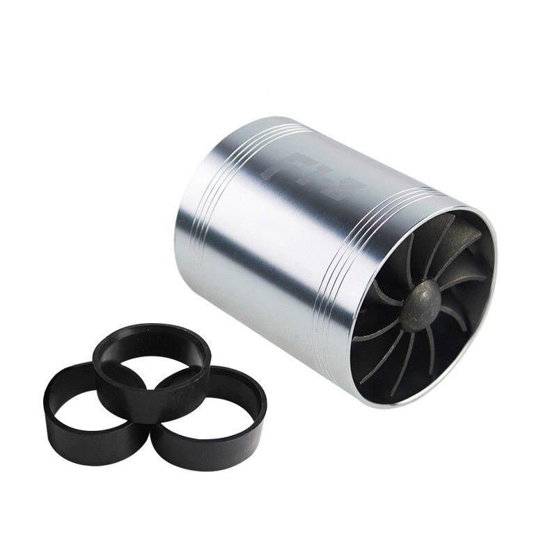 VR RACING-F1-Z двойная турбина турбонагнетатель воздуха впускной газ топлива заставка вентилятор автомобиля супер зарядное устройство VR-FSD11 - Цвет: SilverFanBlackRubber
