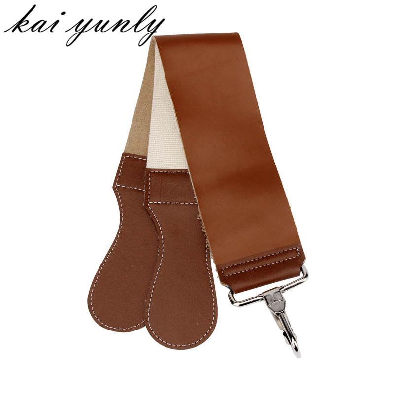 1PCS ZY Barber Rakning Läder Strop Dubbelskikt Razor Cloth Sharpener Strap New Fashion Gratis frakt grossist Dec 29