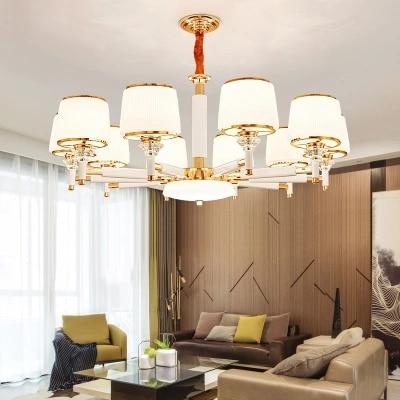 Modern Gold White Metal Led Chandeliers Lighting Glass Living Room Led Pendant Chandelier Lights Bedroom Hanging Lamp Fixtures