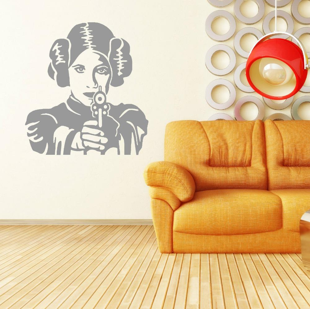 PRINCESS LEIA STAR WARS vinyl wall art room sticker decal movie ...