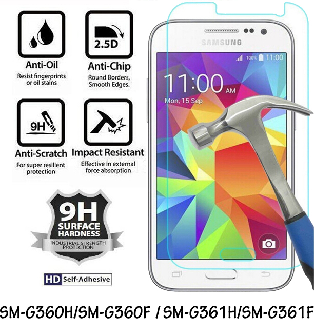samsung g360f - SM-G360H G360F /SM-G361F G361H Protective Glass Cover Tempered Glass Film for Samsung Galaxy Core Prime LTE Screen Protector 9H