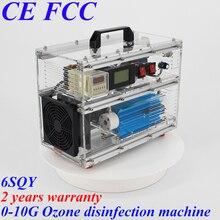 Pinuslongaeva 6SQY BO-1030QY 0-10 Гц/ч 10 грамм регулируемый, акриловый оболочка озоновый генератор дезинфекционная машина для воздуха или воды