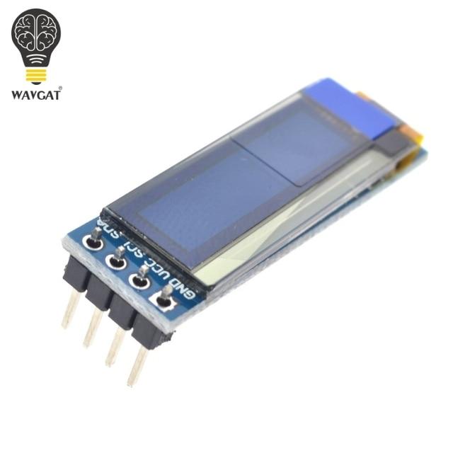 """WAVGAT 0.91 inch OLED module 0.91"""" Blue White OLED 128X32 OLED LCD LED Display Module 0.91"""" IIC Communicate 2"""