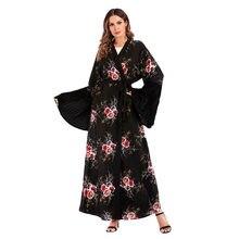 2019 Abaya Dress Dubai Kaftans Women Ropa Musulman Mujer Abayas for Women  Muslim Party Dresses Abayas Islam Islamic Clothing ea209abeb24f