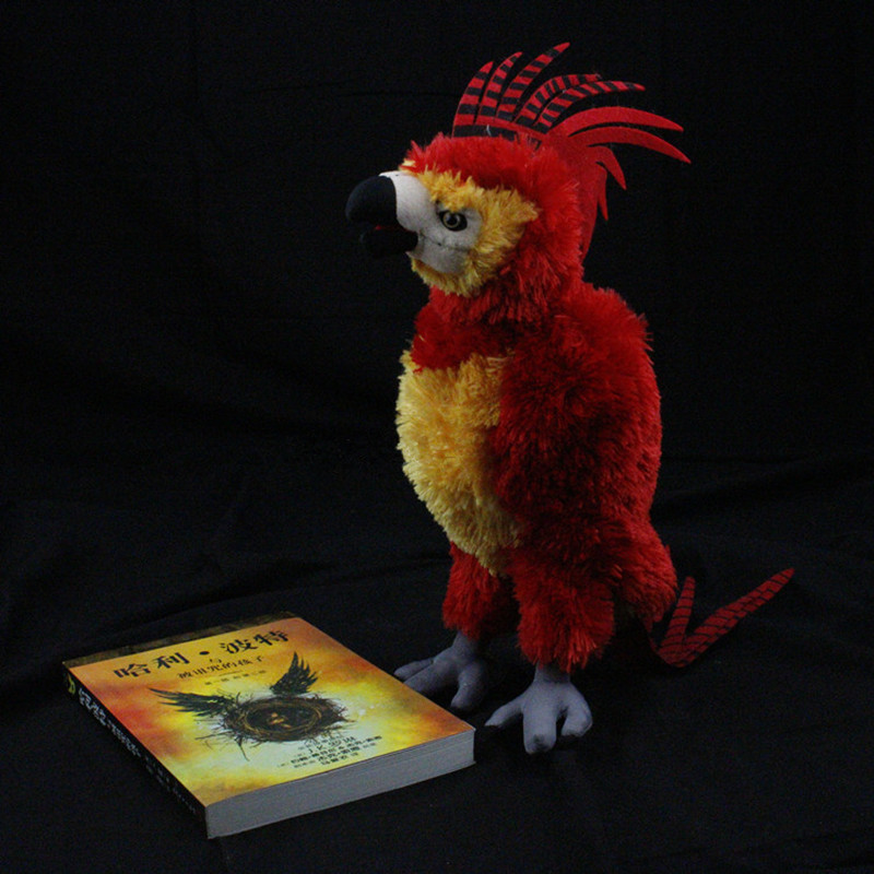 Movie Harry Potter Plush Toys Doll 38cm Fawkes Parrot stuffed toys Christmas gifts for children birthday