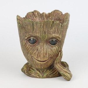 Image 5 - GLLead Groot Resin Flower Pot Cute Planter Action Figures Tree Man Creative Model Toy Pen Garden Flowerpot Home Decorate
