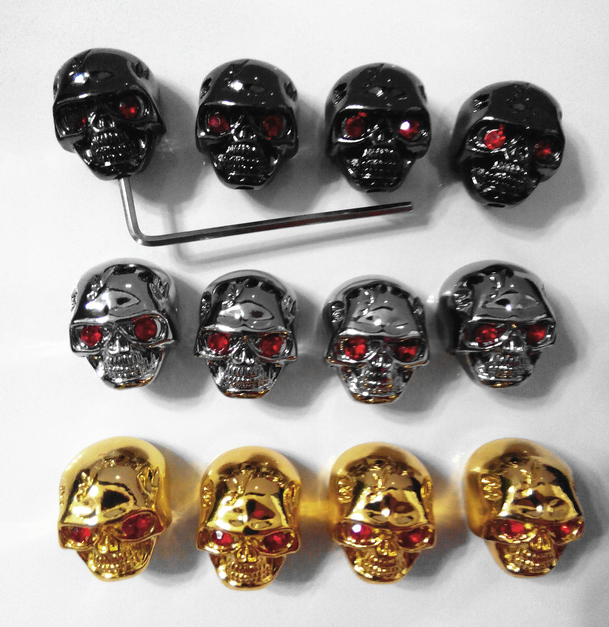 BQLZR Black Electric Guitar Skull Volume Tone Knobs Skull Head Skull Knob Pack of 3