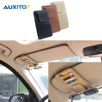 Genuine Leather Cards Case For VW Polo Golf 4 5 6 7 Passat B5 B6 B7