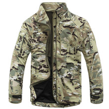 Military Jacket Men Outdoor Sport Winter Thermal Breathable Tactical Jacket Windproof SoftShell Hunting Army Jacket