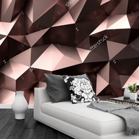 Modern Wallpaper 3D Geometric Patterns For The Living Room Sofa Restaurant Background Wall Vinyl Papel De