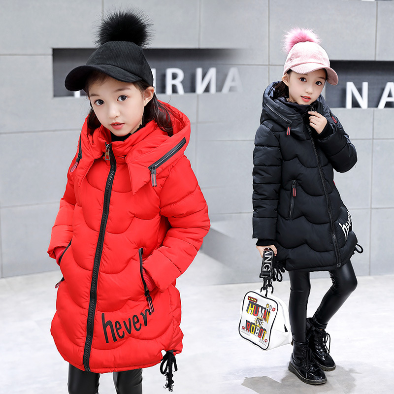 2018 New Girls Jacket Fashion Winter Warm Jackets for Girls Coats Kids 3-16years Outerwear High Quality Down Jacket Clothes цена