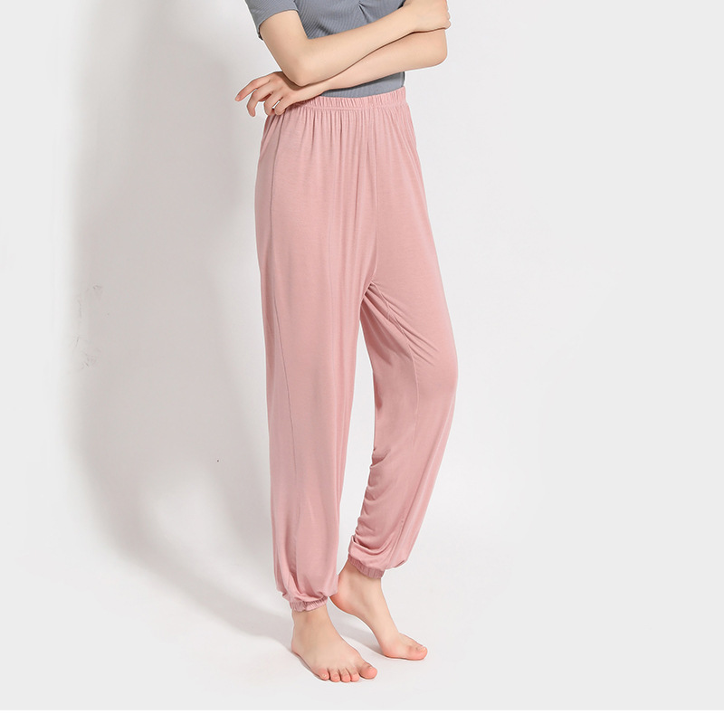 Plus Soft Sleep Bottoms Home Pants for Women Pajama Pants Modal Summer Autumn Lounge Sleepwear(China)